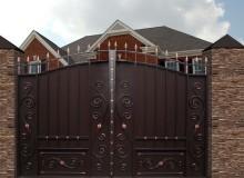 Ворота Дворянские со встроенной калиткой