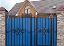 Ворота МП со встроенной калиткой