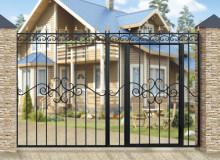 Ворота Дачные со встроенной калиткой