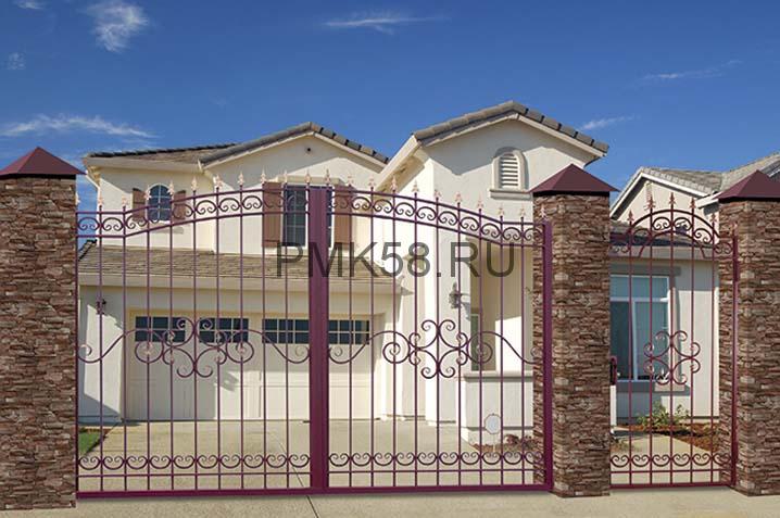 Ворота прозрачные арочные